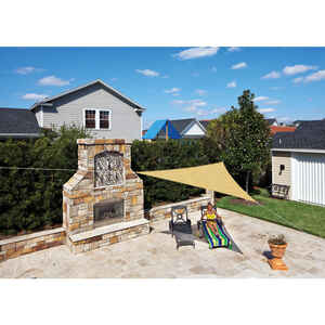 Coolaroo  Ready-To-Hang  Polyethylene  Triangle Shade Sail Canopy  142 in. W x 142 in. L