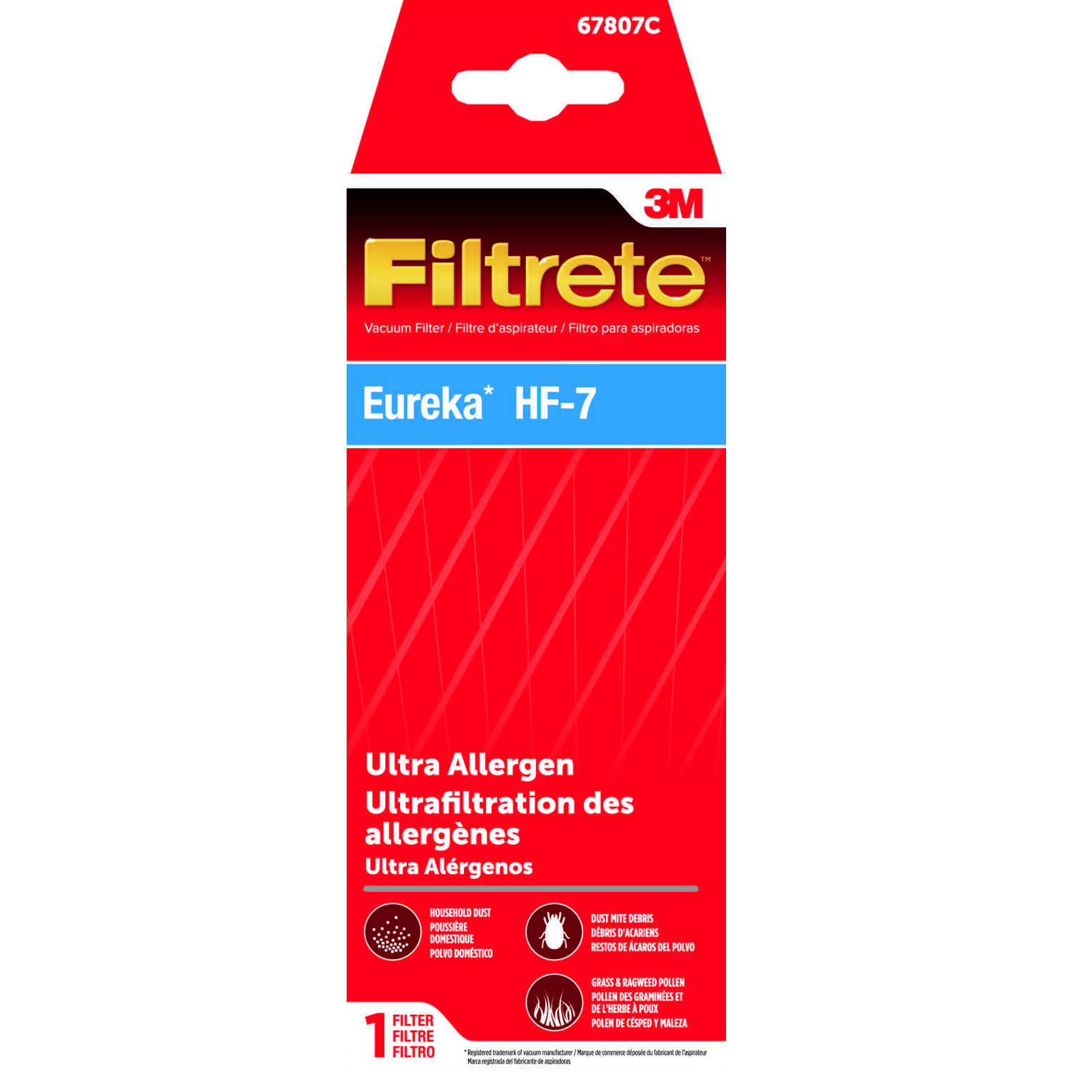 3M  Filtrete  Vacuum Filter  For Eureka HF-7 Ultra Allergen 1 pk