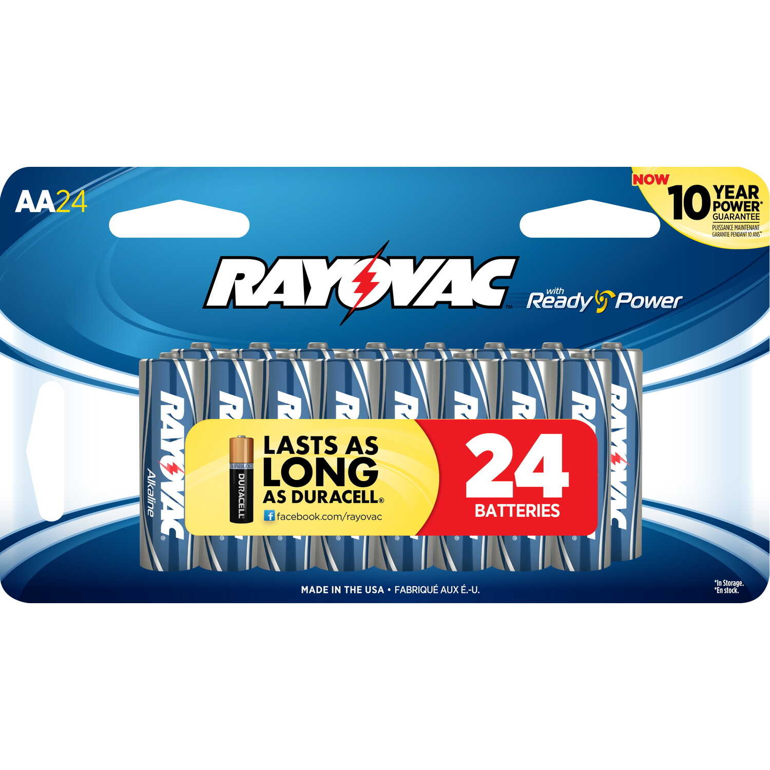 Rayovac  AA  Alkaline  Batteries  24 pk 1.5 volts Carded