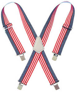 CLC Work Gear  4.25 in. L x 2 in. W Red/White/Blue  Nylon  Suspenders  Blue/Red/White  One Size Fits