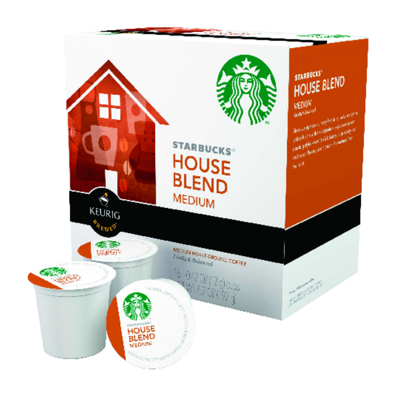 Keurig  Starbucks  House Blend Medium  Coffee K-Cups  16 pk