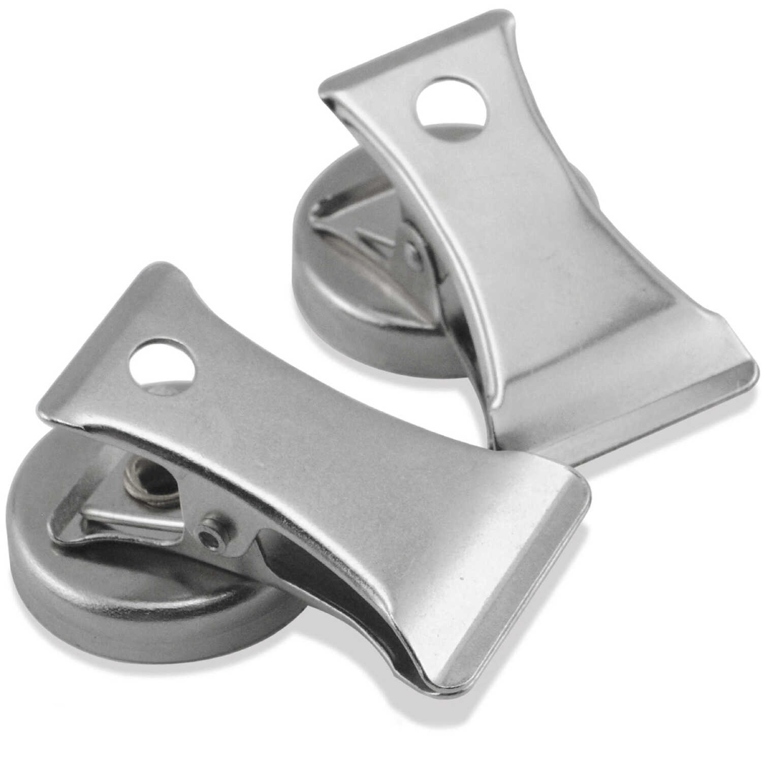 Master Magnetics  1.8 in. Ceramic  Clip  3 lb. pull 3.4 MGOe Magnetic Clips  2 pc. Silver