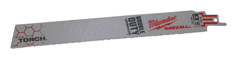 Milwaukee  THE TORCH  9 in. L x 1 in. W Double Duty Upgrade  Reciprocating Saw Blade  Bi-Metal  10 p