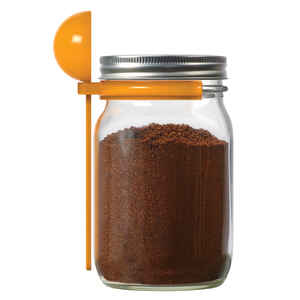 Jarware  Wide Mouth  Coffee Spoon Scoop & Lid  1 pk
