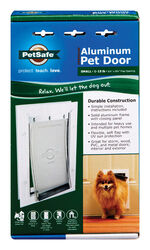 Petsafe  11.625 in. H x 7-3/4 in. W Aluminum  Pet Door