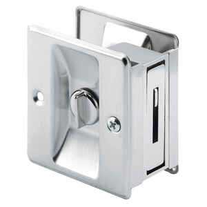 Prime-Line  2.5 in. L Satin Nickel  Silver  Brass  Pocket Door Pull