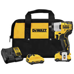 DeWalt  XTREME 12V MAX  3/8 in. Cordless  Brushless Impact Wrench  Kit 12 volt 1500 in-lb