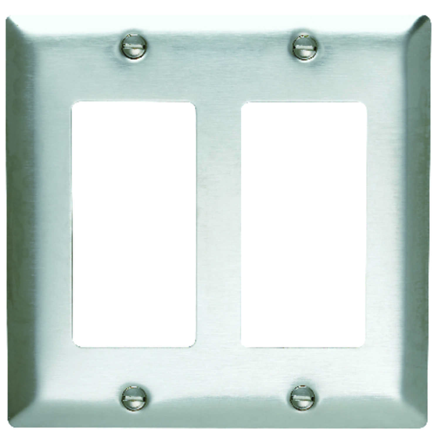 Pass & Seymour  Silver  2 gang Stainless Steel  Wall Plate  1 pk