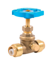 SharkBite  1/2 in. PTC   x 1/2   Brass  Stop and Waste Valve