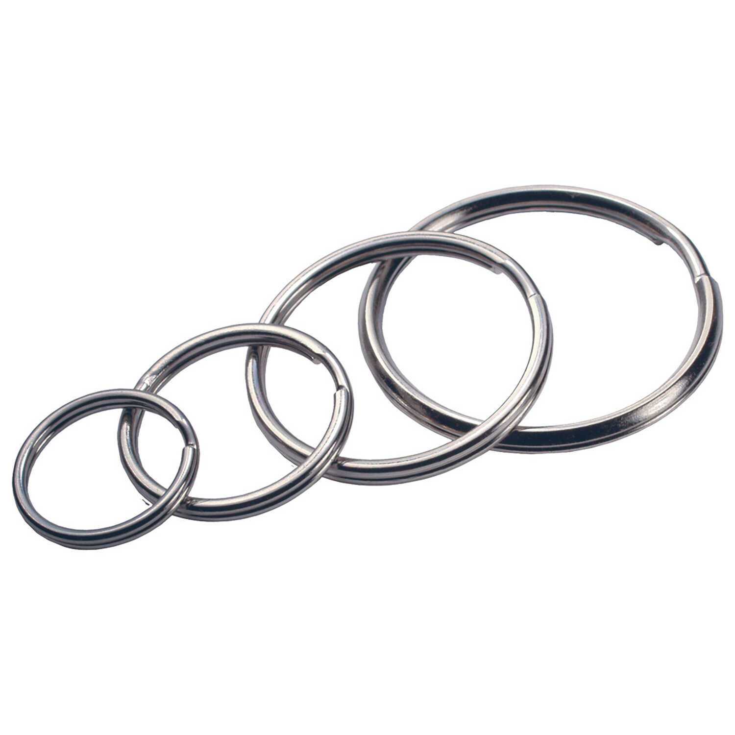 Hillman  Tempered Steel  Assorted  Split Rings/Cable Rings  Key Ring