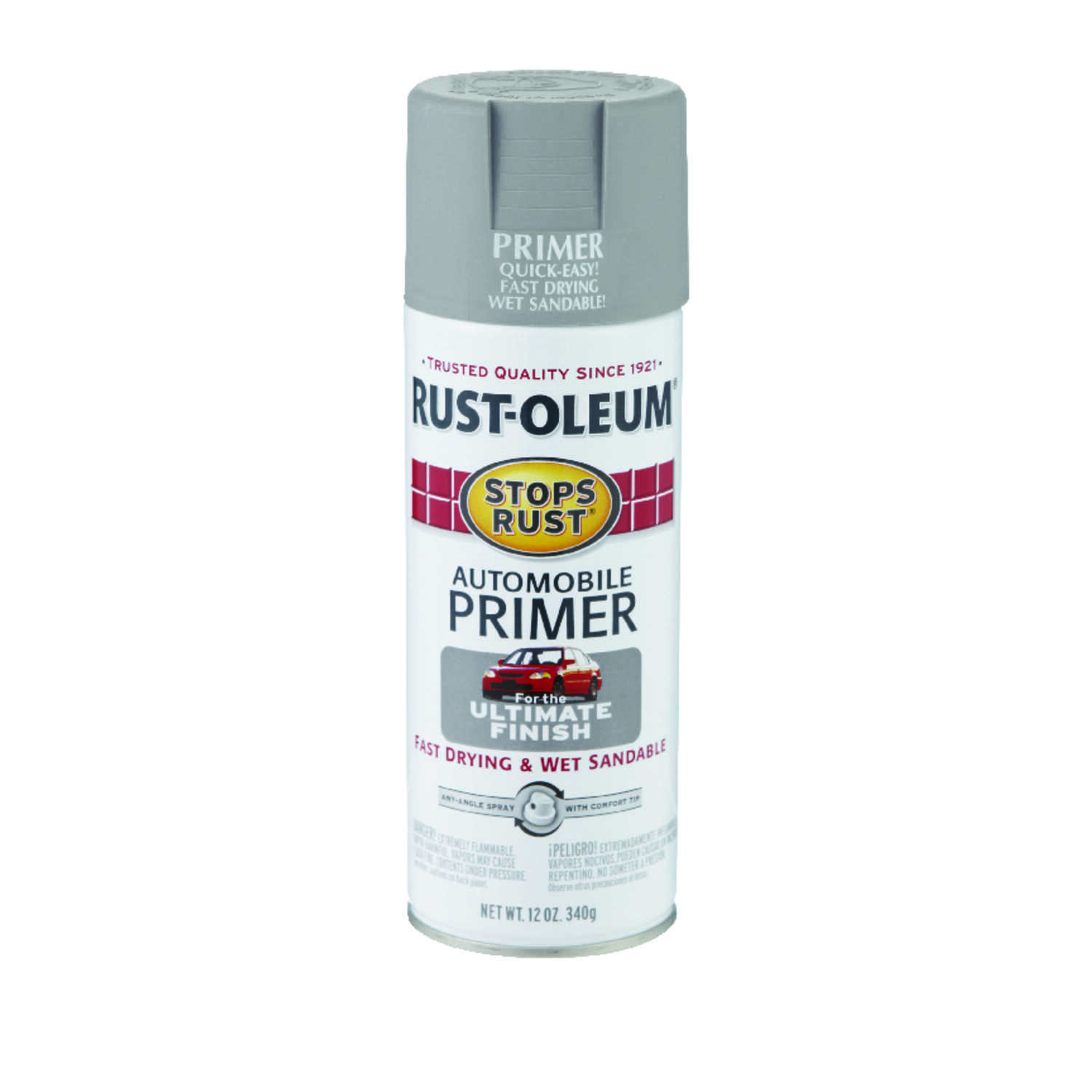 Rust-Oleum  Stops Rust  Gray  Primer  For Metals 12 oz.