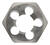 Irwin  Hanson  High Carbon Steel  SAE  Hexagon Die  1/4 in.-18NPT  1 pc.
