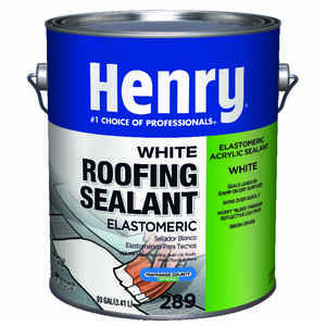 Henry  Smooth  White  Elastomeric Acrylic  Roofing Sealant  0.9 gal.