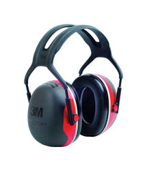 3M 28 dB Soft Foam Ear Muffs Black/Red 1 pair