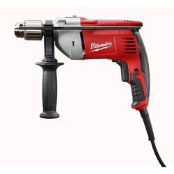 Milwaukee  1/2 in. Keyed  Corded Hammer Drill  8 amps 2800 rpm