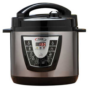 Power Pressure Cooker  As Seen on TV  Silver/Black  Pressure Cooker