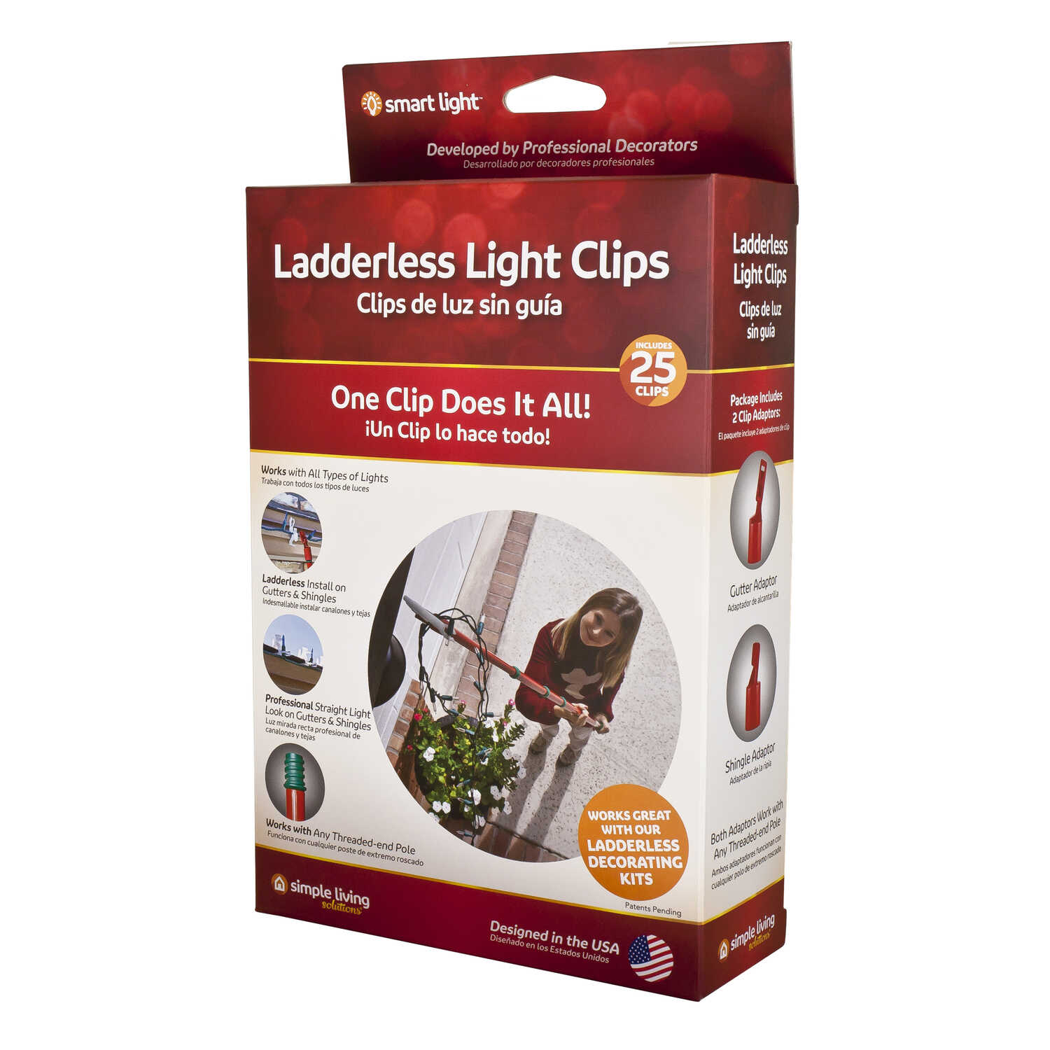 Simple Living  Light Clips  White  25 count Plastic