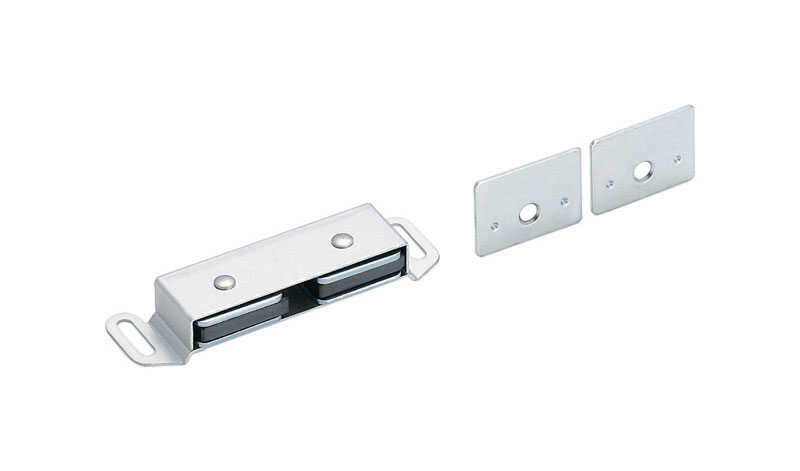 Amerock  0.5 in. H x 1 in. W x 3.5 in. D Aluminum  Magnetic Catch