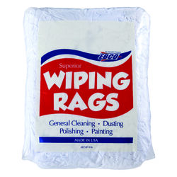 EBCO  Cotton  Wiping Rags  18 in. W x 18 in. L