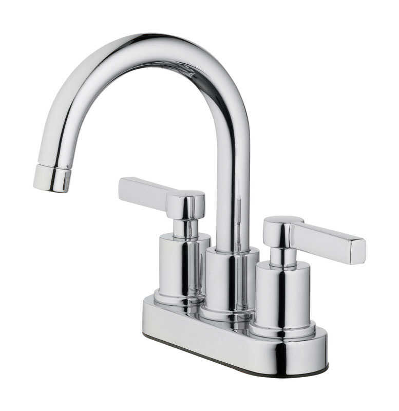 OakBrook  Verona  Two Handle  Lavatory Pop-Up Faucet  4 in. Chrome