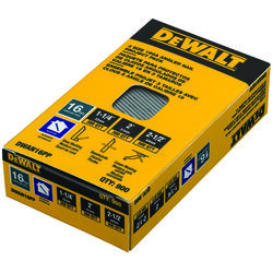 DeWalt  16 Ga. Angled Strip  Finish Nails  20 deg. Smooth Shank  900 pk