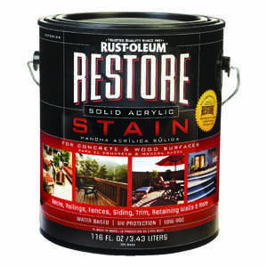 Rust-Oleum  Restore  Solid  Tint Base  Concrete and Wood Stain  1 gal.