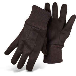 Boss  Men's  Indoor/Outdoor  Cotton/Polyester  Jersey  Work Gloves  Brown  L  6 pair