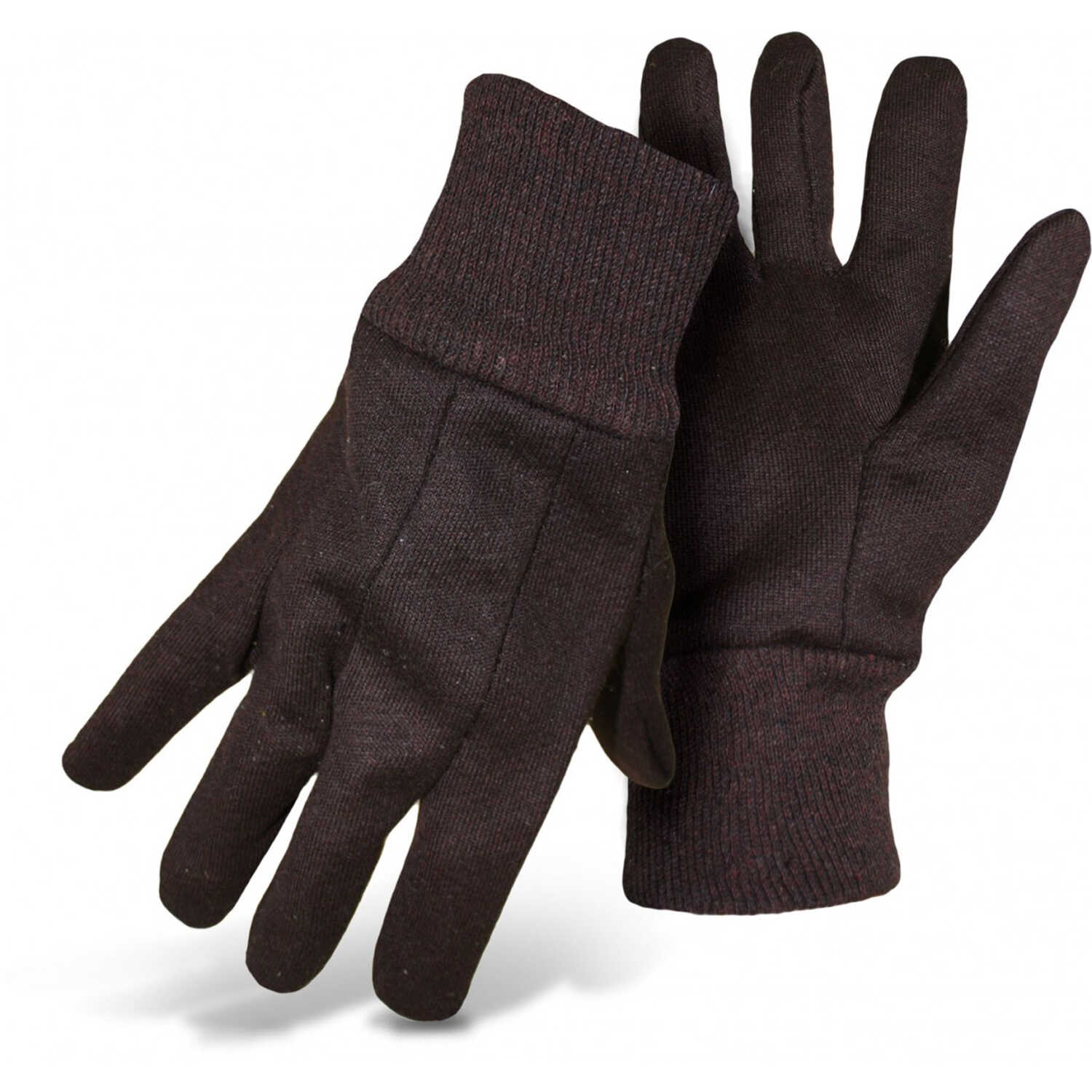 Boss  Men's  Indoor/Outdoor  Cotton/Polyester  Jersey  Work Gloves  Brown  L