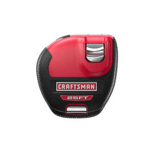 Craftsman  Sidewinder  25 ft. L x 1 in. W 1 pk ABS Plastic  Tape Measure  Black