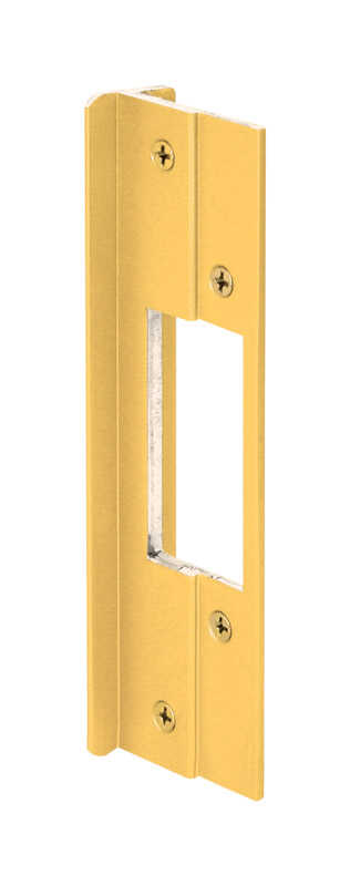 Prime-Line  8.438 in. H x 6 in. L Gold  Extruded Aluminum  Door Lock Guards