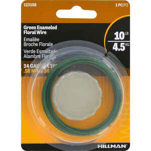 Hillman  100 ft. L Steel  24 Ga. Floral Wire
