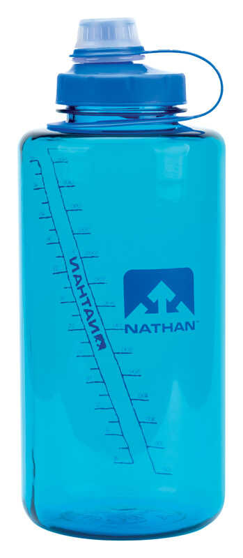 Nathan  Atomic Blue  Plastic  SuperShot  Water Bottle  BPA Free 50 oz.