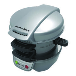 Hamilton Beach  6.3 in. W Metal  Nonstick Surface Breakfast Sandwich Maker