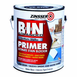 Zinsser  BIN Advanced  White  Primer and Sealer  For All Surfaces 1 gal.