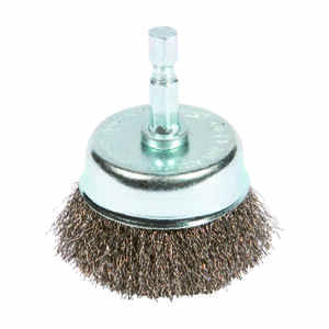 Forney  2 in. Dia. x 1/4 in.  Fine  Steel  Crimped Wire Cup Brush  1 pc.