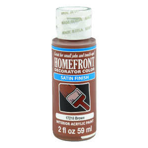 Homefront  Decorator Color  Satin  Brown  2 oz. Acrylic Latex  Hobby Paint