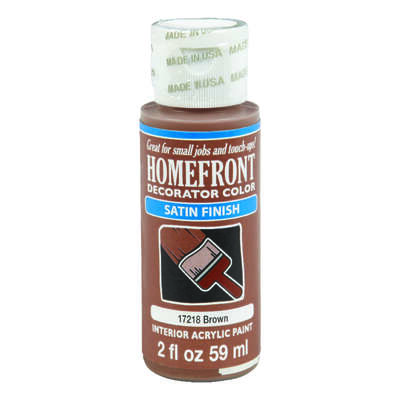 Homefront  Satin  Brown  Hobby Paint  2 oz.
