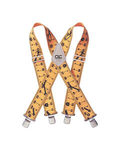 CLC Work Gear  2 in. W x 4 in. L Nylon  Adjustable One Size Fits Most  Ruler Suspenders  Yellow  1 p