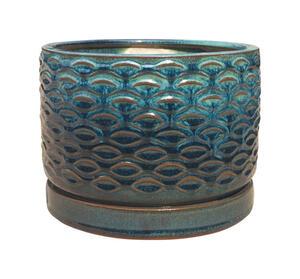Trendspot 8 In W Ceramic Ceramic Pot Blue Ace Hardware