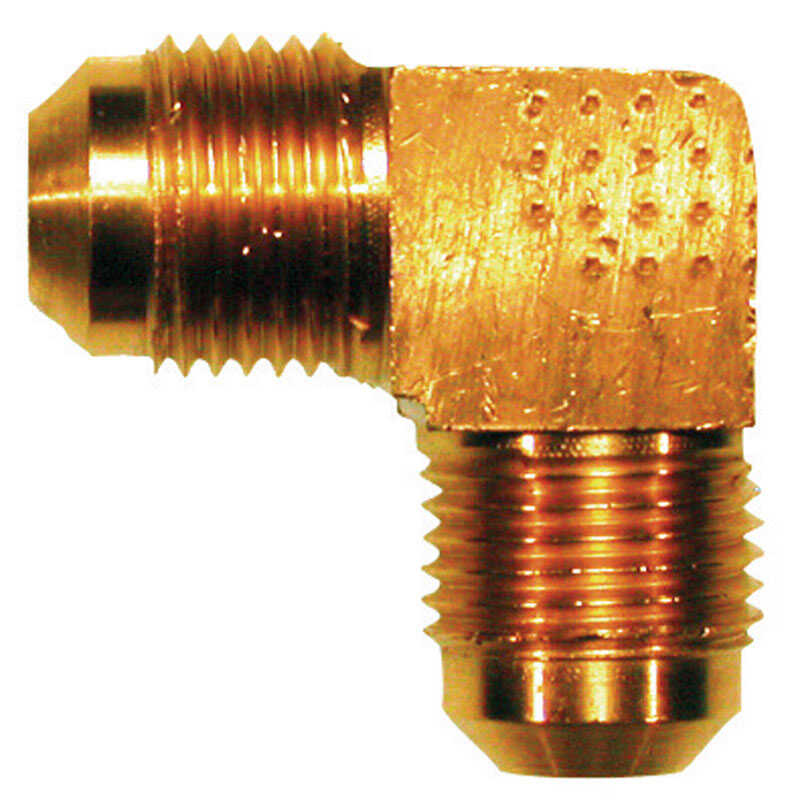 JMF  1/2 in. Dia. x 1/2 in. Dia. Flare To Flare  Brass  Flare Elbow