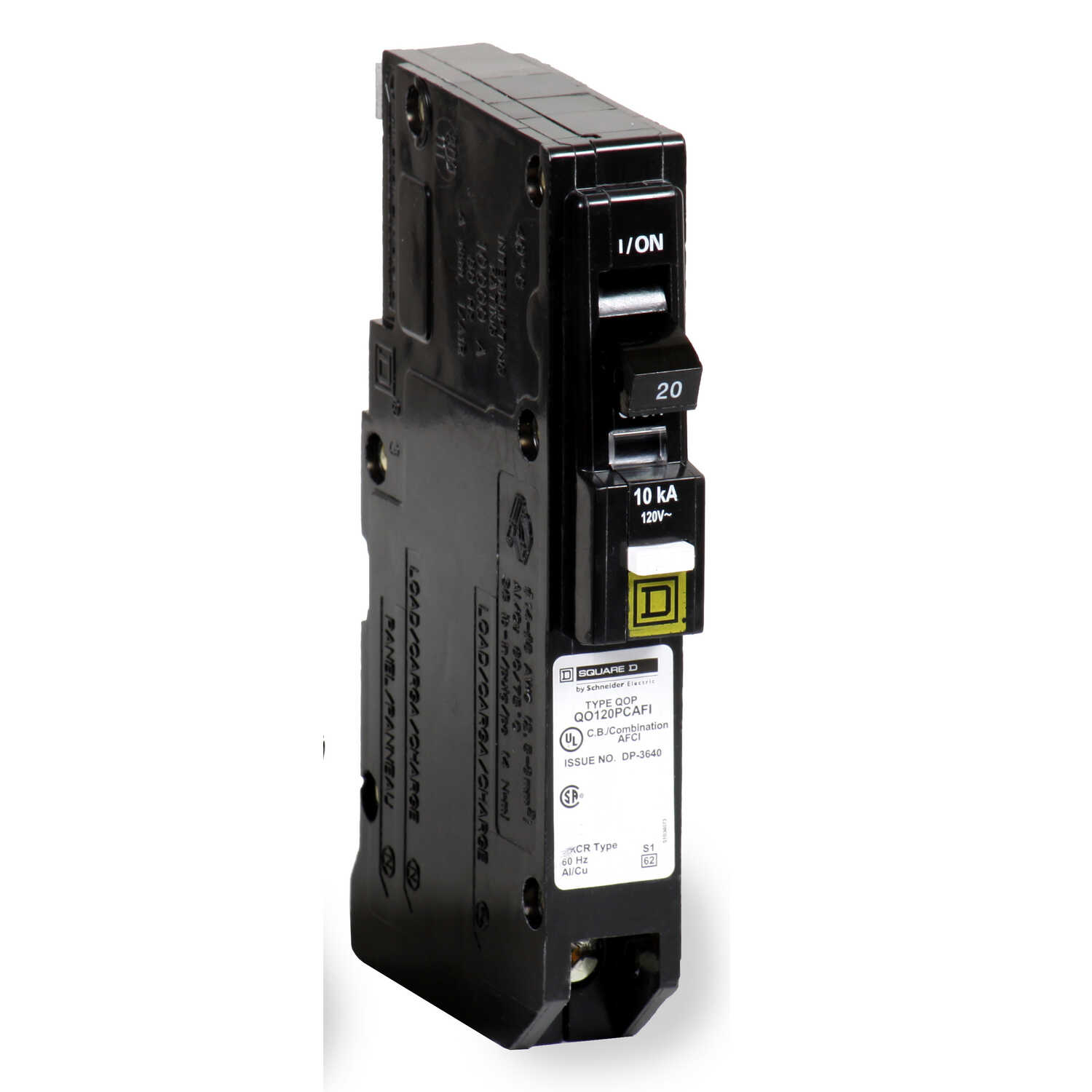 Square D  QO  20 amps Arc Fault  Single Pole  Circuit Breaker