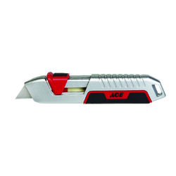 Ace  Heavy Duty  6 in. Sliding  Utility Knife  White  1 pc.