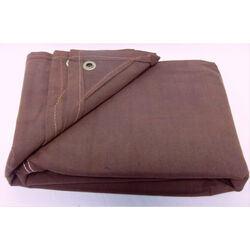 King Tarpaulin  8 ft. W x 10 ft. L Heavy Duty  Canvas  Tarpaulin  Brown