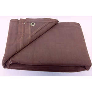 King Tarpaulin  8 ft. W x 10 ft. L Heavy Duty  Tarpaulin  Canvas  Brown