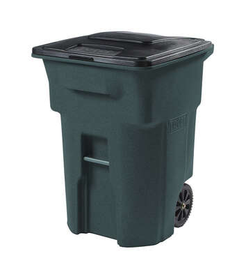 Toter  96 gal. Polyethylene  Wheeled Garbage Can  Lid Included