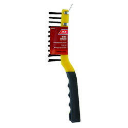 Ace 4 in. W x 11.5 in. L Carbon Steel Wire Brush with Scraper
