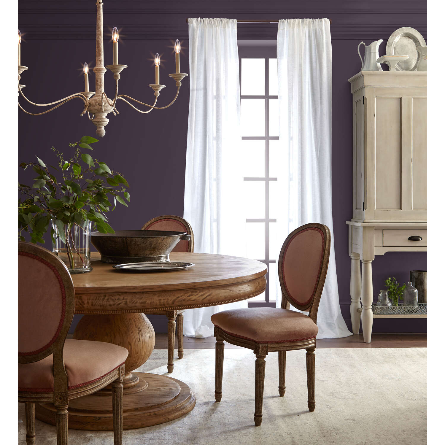 Magnolia Home  by Joanna Gaines  Satin  M  Acrylic  1 gal. Paint  Plum Suede