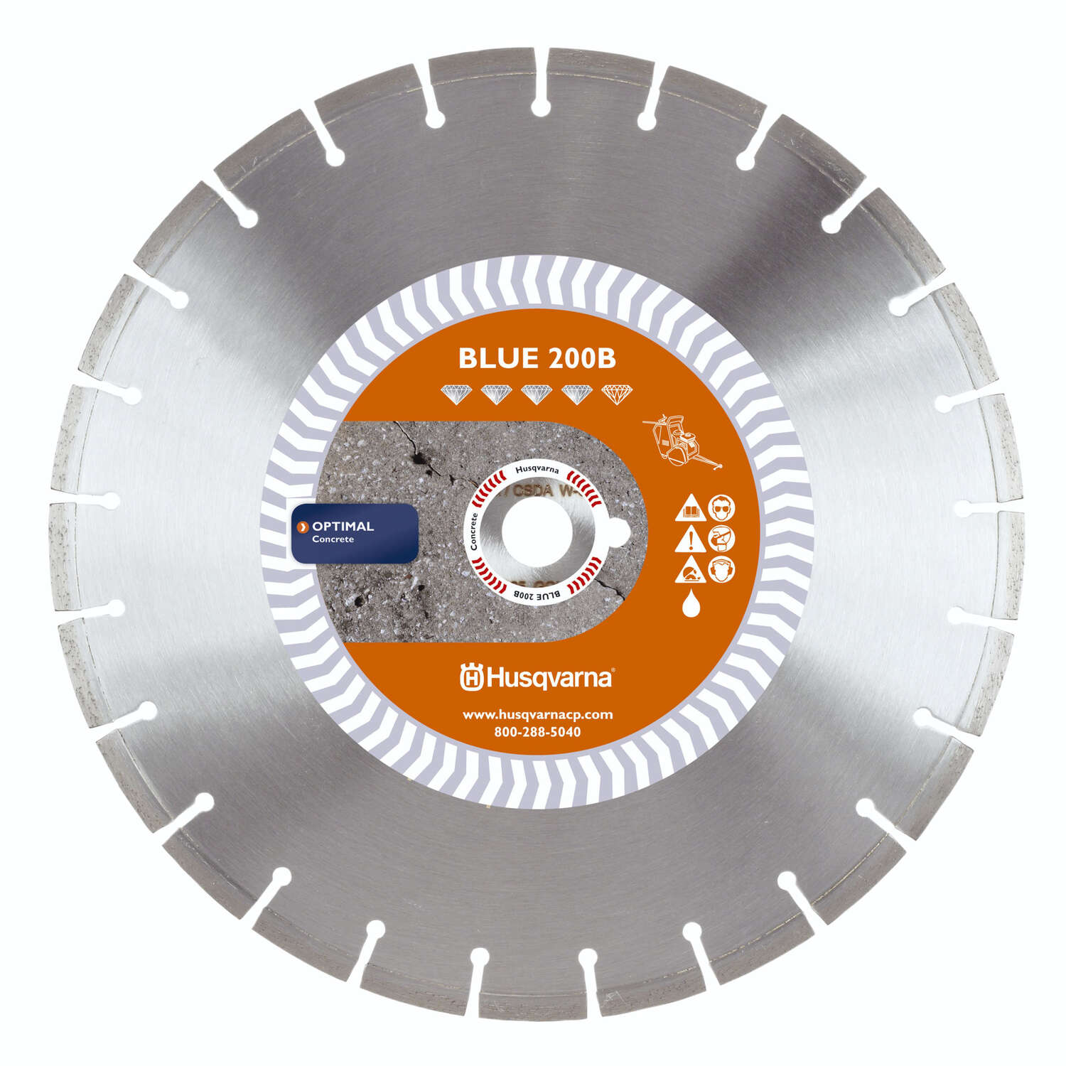 Husqvarna  18 in. Dia. Banner Line Blue 200B  Diamond Saw Blade