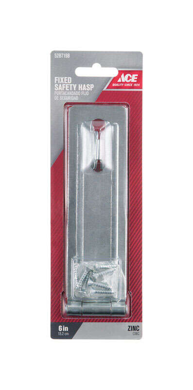 Ace  Zinc  6 in. L Fixed Staple Safety Hasp