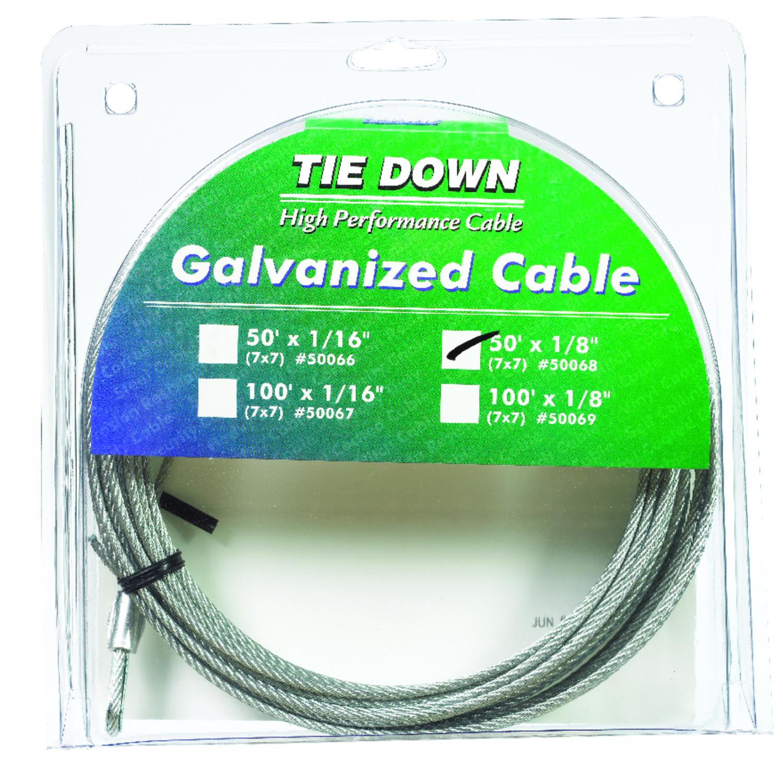 Tie Down Engineering Galvanized Galvanized Steel 1/8 in. Dia. x 50 ...